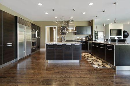 Kitchen in luxury home photo