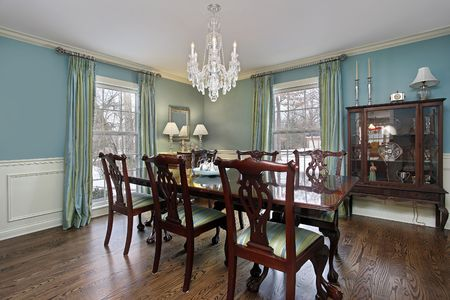 Dining room in luxury home with buffet Stock Photo - 6846772
