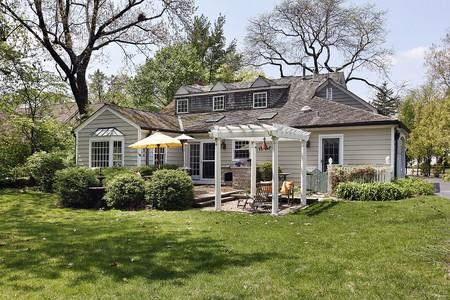 Rear view of suburban home with pergola Stock Photo - 7809847