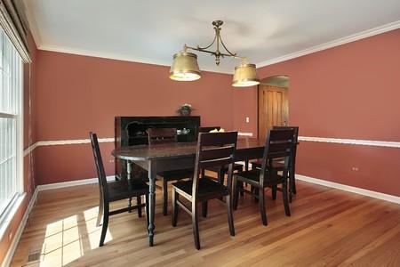 jídelna: Jídelna v předměstských domů s lososem barevné stěny Reklamní fotografie