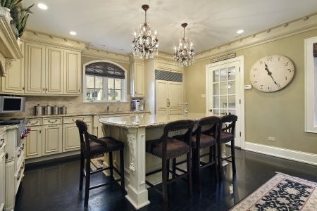 island: Kitchen in luxury home with center island