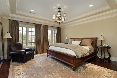 master bedroom in luxury home with tray ceiling stock photo 10537568 - Luxury Homes Master Bedroom