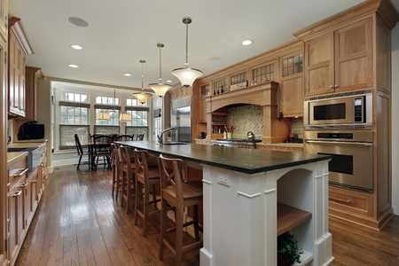 Modern kitchen in luxury home with large island
