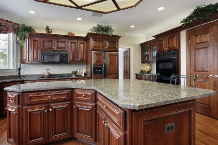 granite kitchen: Kitchen in luxury home with large center island