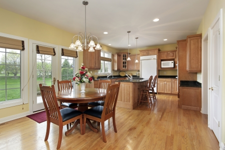 eating area: Kitchen with granite island and eating area