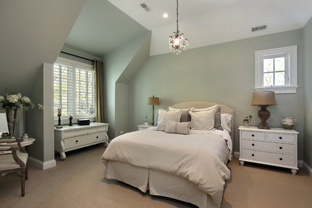 Guest bedroom in luxury surburban home