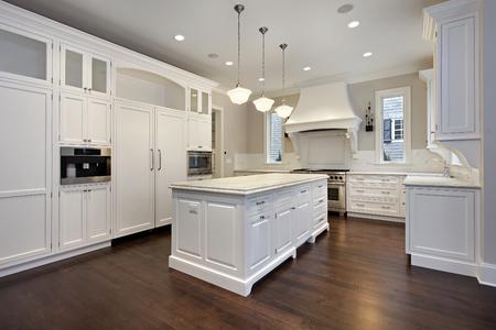 granite kitchen: Kitchen in new construction home with center island