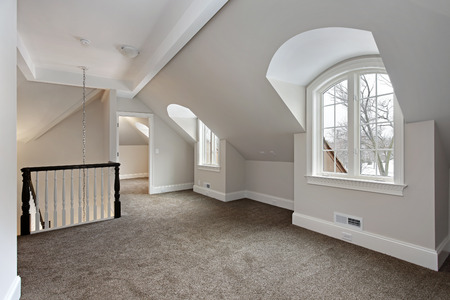 Loft in new suburban construction home