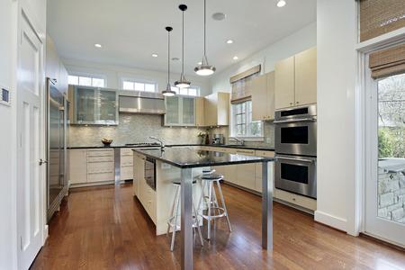 Kitchen in modern home with center island