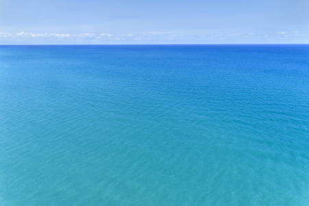 Aerial view of water and sky over Lake Michigan in the Chicago suburb of Winnetka, IL. USA