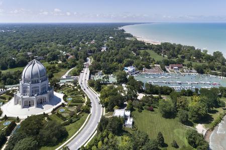 Temple, Harbor and Shoreline
