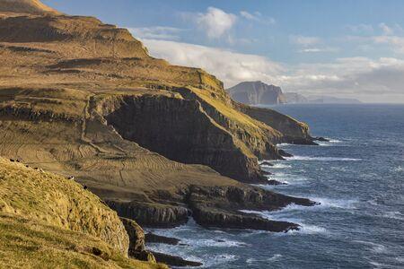 Mykines Coastline in the Faroe Islands. Reklamní fotografie