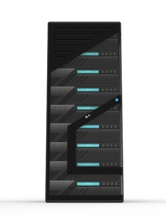 Modern Rack of Servers