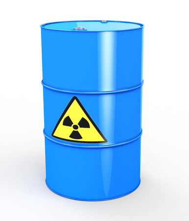 uranium: Radioactive Barrel Stock Photo