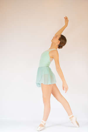 Young beautiful ballet dancer performing 스톡 콘텐츠