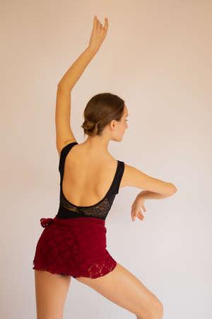 Young beautiful flamenco dancer posing for camera