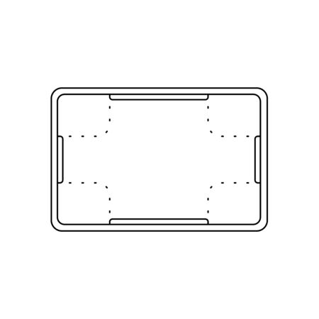 Plastic vat, storage line icon, outline vector sign linear