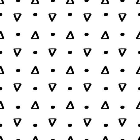 Geometric shapes seamless pattern hand drawn vector 向量圖像