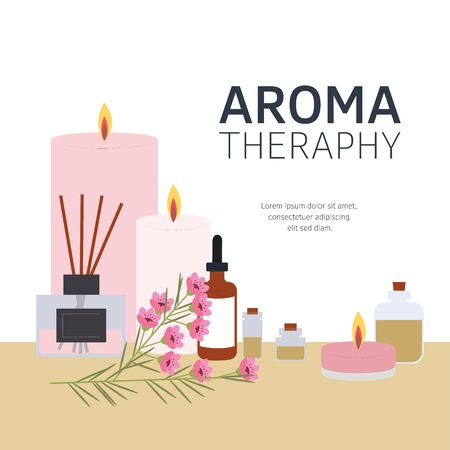 Vector illustration Aromatherapy. Aromatizer. Aromatic air freshener