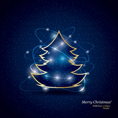 Christmas and New Year. Vector greeting card Stock Vector - 10903962