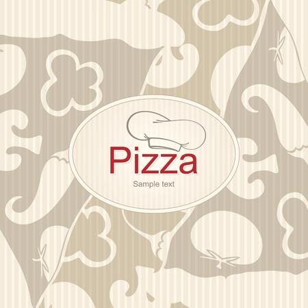 italian pasta: Dise�o de portada el men� para pizzer�a