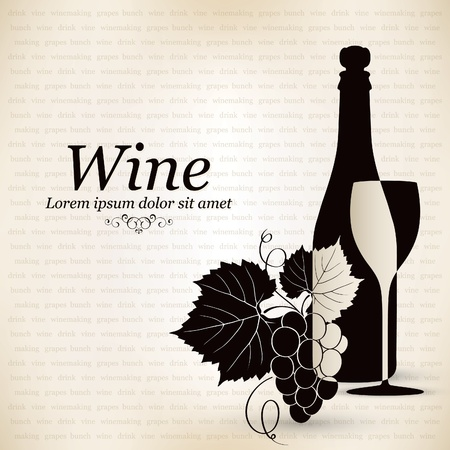ornament menu: Wine list design Illustration