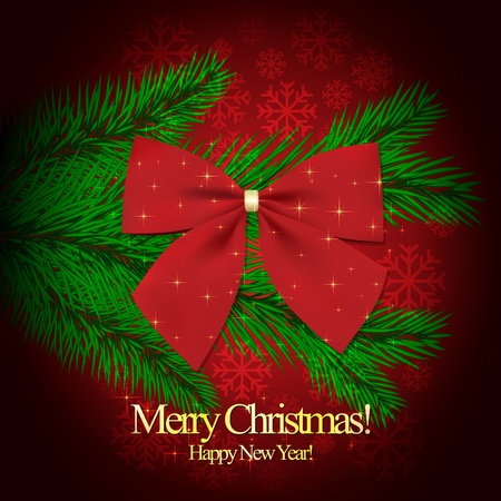 Christmas and New Year. Vector greeting card Stock Vector - 10903964
