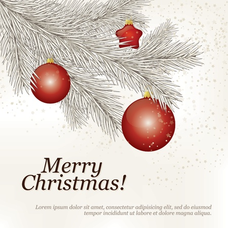 Christmas and New Year. Vector greeting card Stock Vector - 10903955