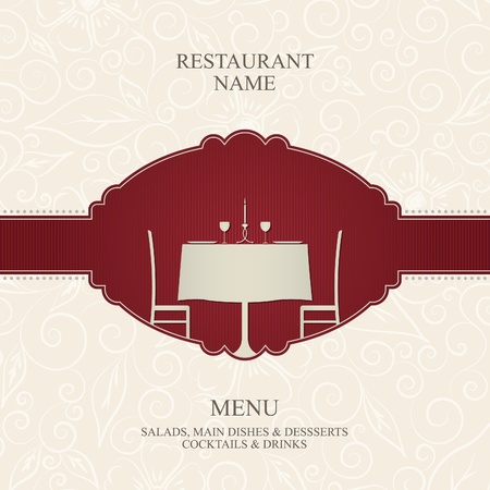 table decoration: Vector. Restaurant menu design