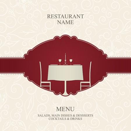 mesa de comedor: Vector. Restaurante de dise�o de men�