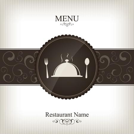 meny: Vector. Restaurang meny design
