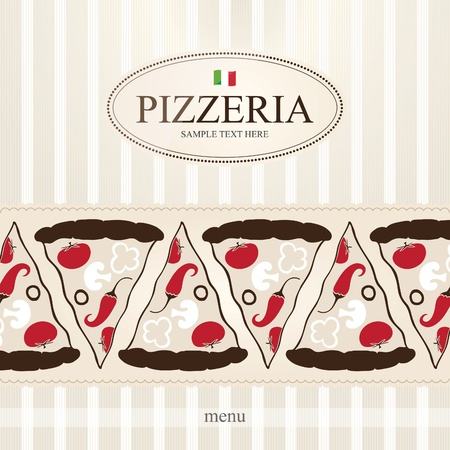 italian pizza: Cover design the menu for pizzeria