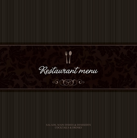 menu: Vector. Restaurant menu design