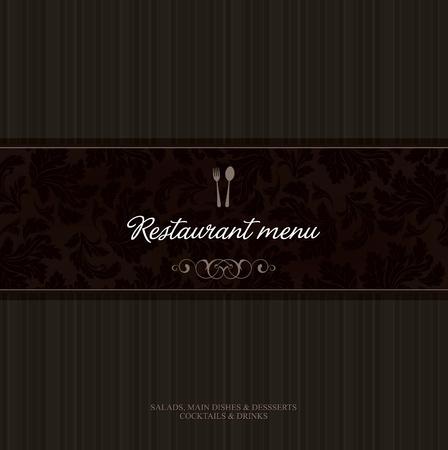 meny: Vector. Restaurang menydesign Illustration