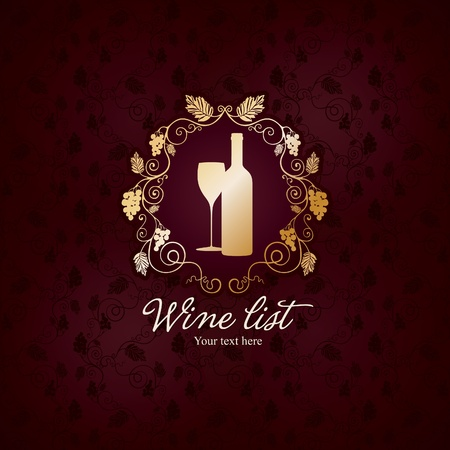 wine label design: Wine list design