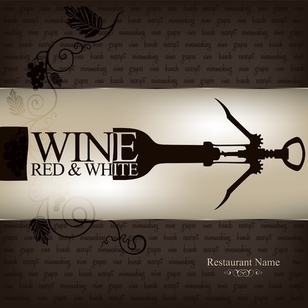 bottle of wine: Wine list design