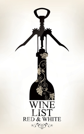 grunge bottle: Wine list design