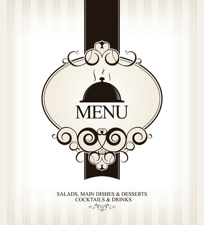 ornament menu: Vector. Restaurant menu design