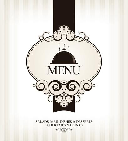 carta de postres: Vector. Restaurante de diseño de menú