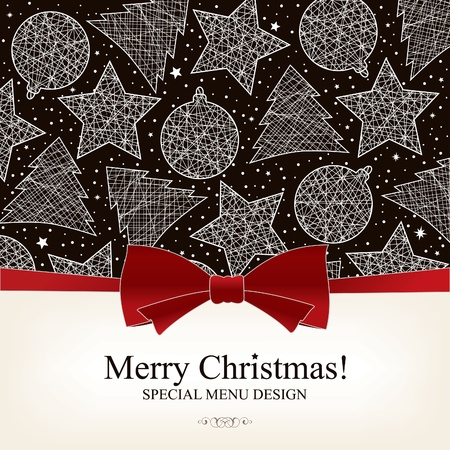 christmas dish: Vector. Special Christmas menu design  Illustration
