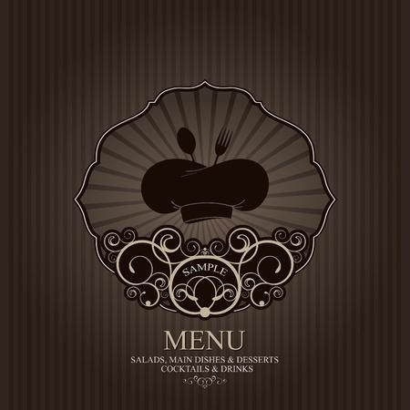 dessert fork: Vector. Restaurant menu design