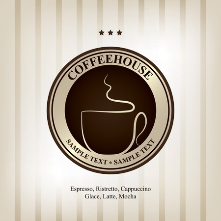 The concept of coffeehouse menu and label  Vector