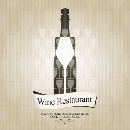 wine background: Vector. Wine list design
