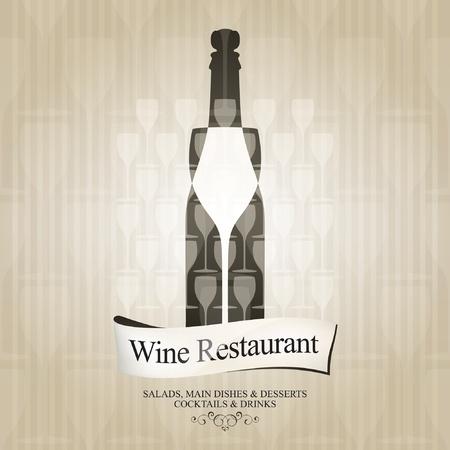 map wine: Vector. Wine list design