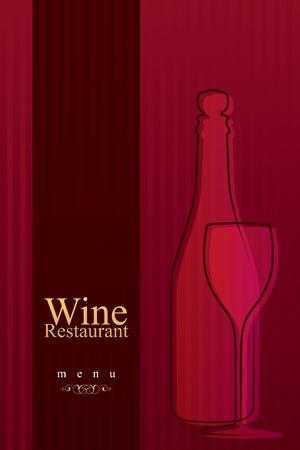 wine list: Vector. Wine list design