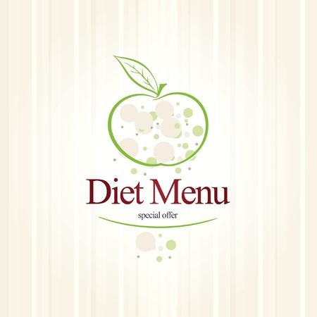 diet concept: Vector. Diet menu restaurant  Illustration