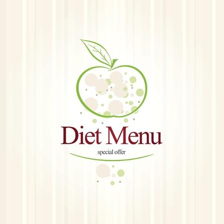 Vector. Dieta restaurante a la carta