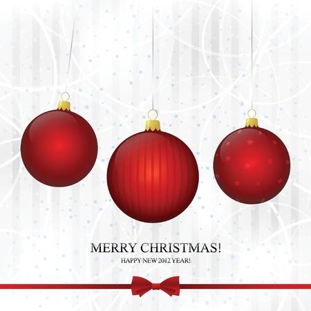 Christmas & New Year. Vector greeting card  Stock Vector - 10940348