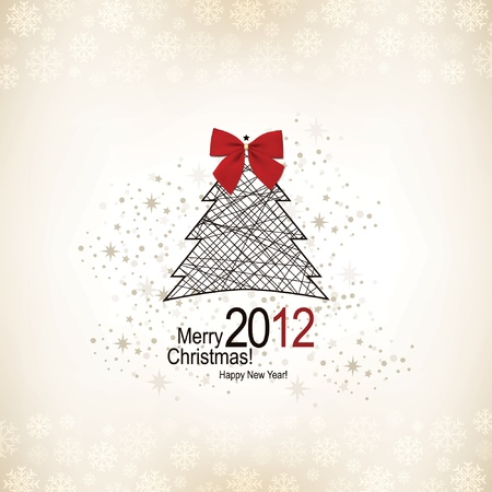 Christmas & New Year. Vector greeting card Stock Vector - 10940326