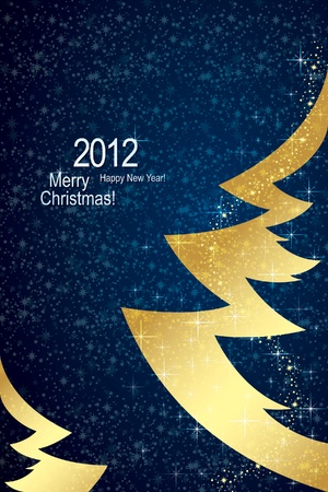 Christmas & Happy New Year background Stock Vector - 10940337